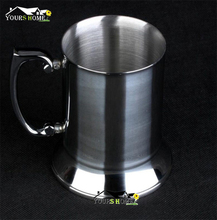 hot deal buy 1 piece 550ml 304 stainless steel drum type moscow mug hammered copper plated beer mug beer cup water glass drinkware