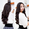 Lady Sexy Long Curl Wavy Clip-on Hair Extension Dark Brown   Shop HB88