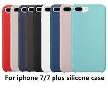 Blucub Роскошные оригинальный силиконовый чехол для iPhone 7/iPhone 7 Plus официальный стиль копия задняя крышка телефона с логотипом и коробку