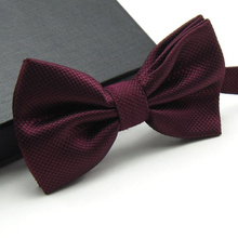 20 Colors  Solid Fashion Bowties Groom Men Colourful Plaid Cravat gravata Male Marriage Butterfly Wedding Bow ties