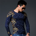 New Autumn winter tops Medusa T-shirt men T Shirt Men's long Sleeve T Shirt slim fit men shirt fashion casual breath