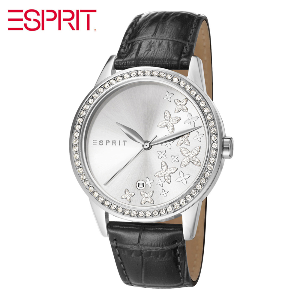 ESPRIT hollow diamond leather printing calendar quartz waterproof watch ES107302001 esprit rj10124