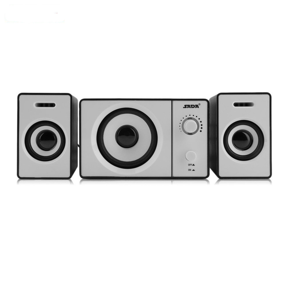 SADA Multifunctional Multimedia Surround Subwoofer Stereo Music Bass USB Bluetooth TF Card Speaker For PC Computer Laptop