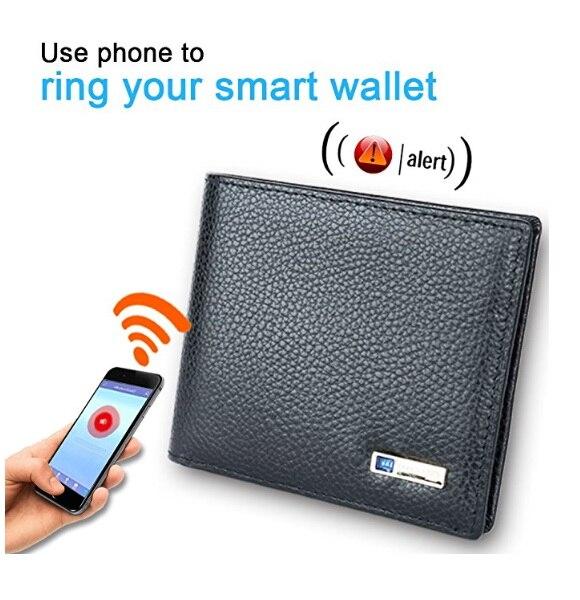 New Arrival Waterproof Bluetooth Anti-Theft Smart Wallet Cam Alarm GPS Smart Men Wallet Manufacture Soft Leather Wallet smartphone