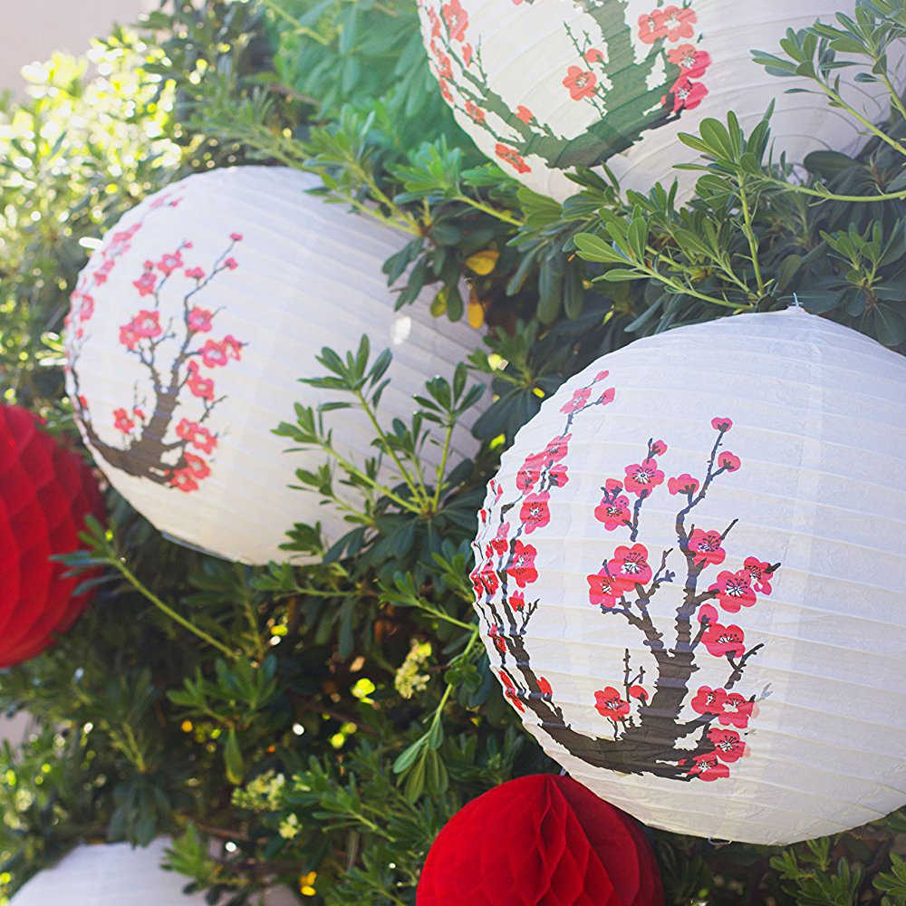 16inch 40cm Chinese Anese Round White Paper Lanterns Flower For Wedding Party Home Garden Decoration