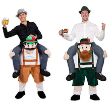 Oktoberfest Cosplay Costumes Ride On Me Carry Back Clothes Halloween Christmas Fancy Toys Party Dress Up Mascot Outfits Disfraz