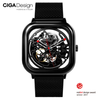 Watch Xiaomi CIGA Hollowed Out Design Anti Seismic Mechanical Watch Openwork Carving Wristwatch With Metal Strap