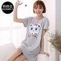 2016 NEW Ladies Nightdress Summer 100% Cotton Night Dress Lovely Character Nightshirt