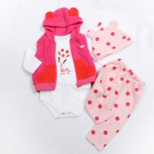 Doll Dress Fit For 43cm and 60cm Baby Doll  Babies Reborn Doll Clothes high quality dress all cotton clothes