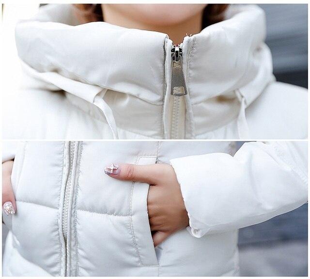 Plus size 6XL Down jackets 2018 Fashion Women Winter Coat Long Slim Thicken Warm Jacket Down Cotton Padded Jacket Outwear Parkas 4
