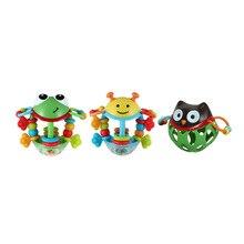 Новорожденные колокольчики LeadingStar детские мягкие резиновые полые Погремушки Мультфильм Детские погремушки-животные игрушки Развивающие детские погремушки игрушки
