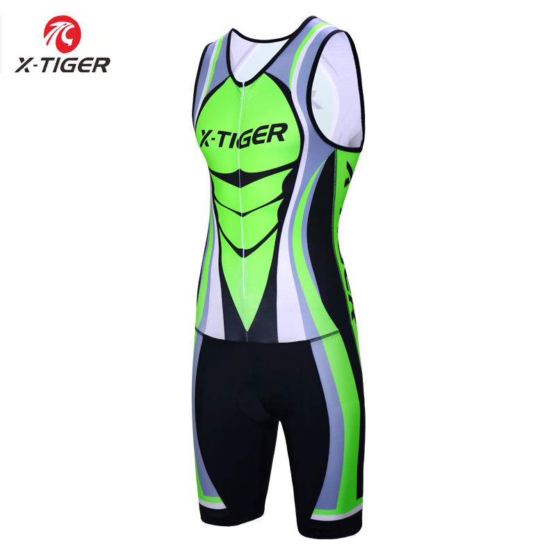 X Tiger Triathlon Bike Ropa De Ciclismo Maillot Outdoor Clothing Elastic Compression Sponge Padding Sleeveless Cycling