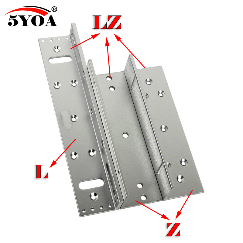180 280 350 500kg Z L Bracket Magnetic Electromagnetic Lock LZ 350lbs Inward Door With Wooden Metal Door Access Control System