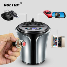 Cigarette Lighter Car Charger Accesories Double USB One Tow Two Can Light Charging Voltage Universal DC12V-24V