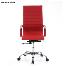 iKayaa UK US FR Stock PU Leather Office Chair Stool Adjustable Swivel High Back Computer Task Office Furniture(China)