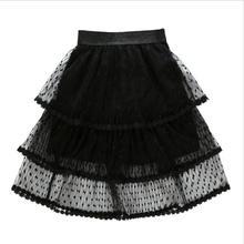 Tutu Skirts Petticoat Lolita Pleated Girls Vintage Child New Dot Jupe Kid Faldas Saias