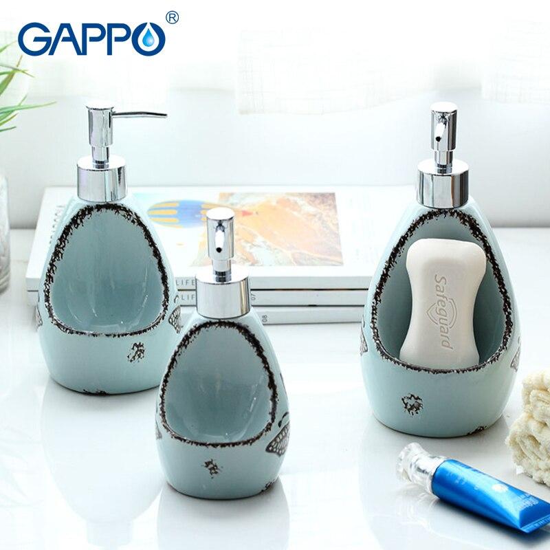 GAPPO liquid soap dispenser toilet ceramic shower liquid dispensers bathroom shower bottles containers brushed dispensers все цены