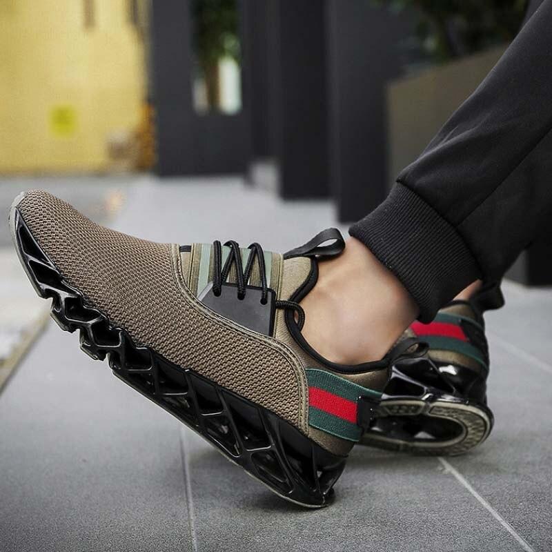Hombre Ar Plus Ao cáqui Zapatos Sapatos Cunhas Calçados Size Preto Masculinos Dos Tênis Amortecimento cinza Homens Vulcanize De Casuais Livre Formadores 8CT0vq0