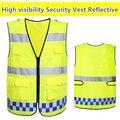 Segurança workwear colete de segurança de Alta visibilidade vestuário reflector colete amarelo fluorescente laranja oi vis colete de segurança