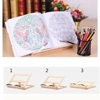 Mutifuctional wooden reading frame book holder read rack tablet support laptop holder recipe frame holder as lover's gift
