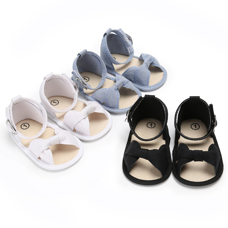 Baby Girls Shoes 2018 Summer Newborn Baby Princess Bow First Walkers Kids Infant Open-Toe Shoes Toddler Girl First Walkers