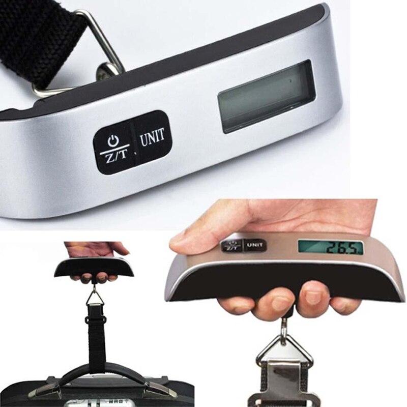 50 kg/10g Display LCD Portátil Balança Portátil Eletrônica Digital Hanging Escala Da Bagagem de Viagem Eletrônico Sem Backlight