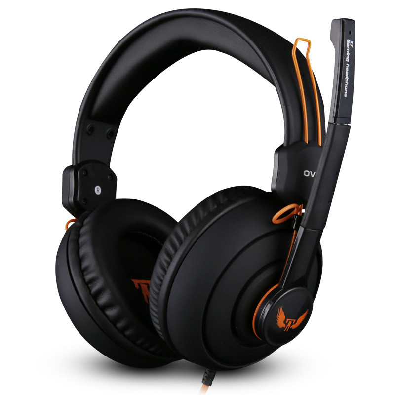 Top Quality Over-Ear Game Headphone Noise Isolating Gaming Headset with Microphone Studio Stereo Real Bass For Gamer Computer PC 2017 top quality professional super bass over ear gaming headset with microphone game stereo headphones for gamer pc computer
