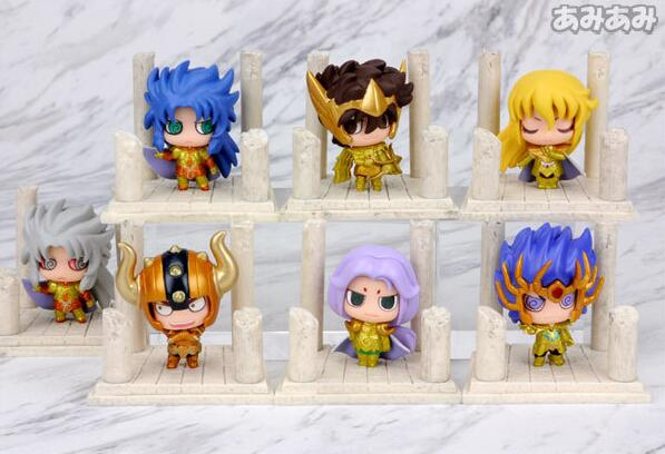 7pcs/set Cute Japan Anime Gold Saint Seiya Knights Of The Zodiac PVC Action Figure Collectible Model Toys