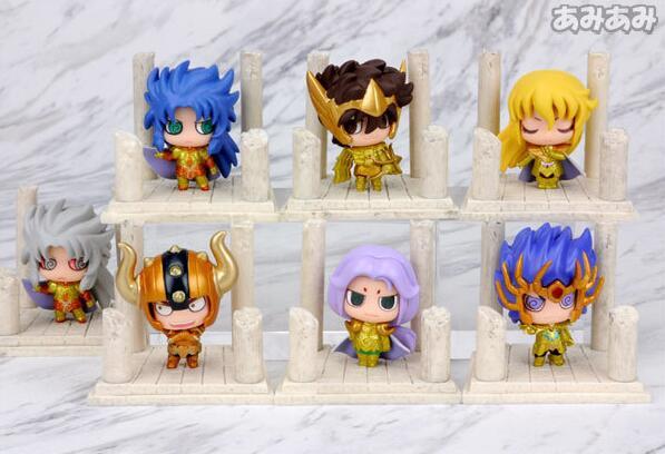 7pcs/set Cute Japan Anime Gold Saint Seiya Knights Of The Zodiac PVC Action Figure Collectible Model Toys