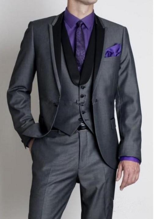 Men Suit Casual Single Breasted Suit Set Wedding Groom Stylish Prom Dress Men Party Wear 3 Pieces(Jacket+Vest+Pants)