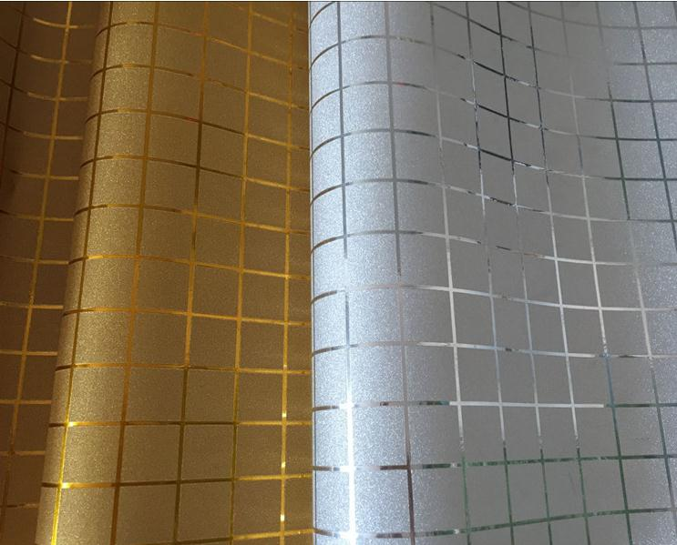 Gold silver self adhesive wallpaper craft paper peel and for Gold self adhesive wallpaper