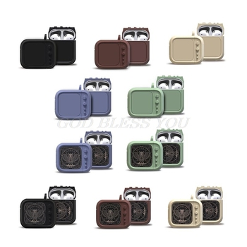 Protective Cover Wireless Earphone Case Silicone Skin Shockproof Dustproof Shell Carabiner for Apple AirPods Bluetooth Headphon