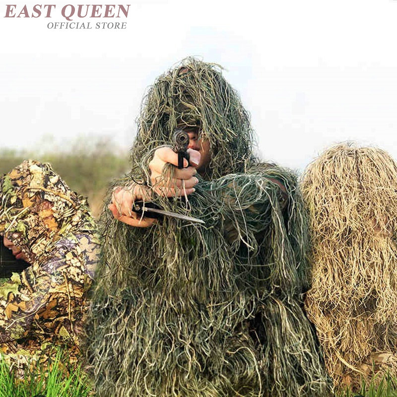 Bionic Grass Ghillie Suit Sniper Tactical Camouflage Suit Hunting Ghillie Suit Jungle Clothes Army Clothing DD1181