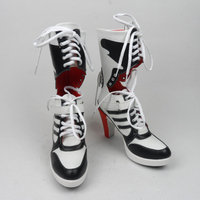 Batman Suicide Squad Harley Quinn Boots Movie Cosplay Costumes Shoes High Heels Custom Made For Adult