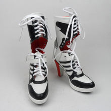 suicide squad harley quinn boots bota accessories black font b women b font for harley shoes