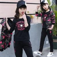 2018 Spring Autumn Girls Clothing Sets Long Sleeve Girls Fashion 3pcs Children Clothing Set Kids Clothes Girls 9 10 11 12 Years