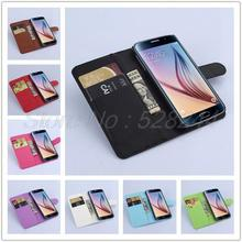 Carteira de luxo caso capa de couro para Samsung Galaxy S6 G9200 com cartão de suporte de saco do telefone móvel para S6