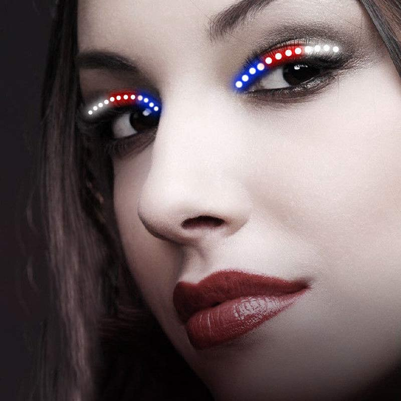 2017 New Hot 1 Pair Fashion <font><b>LED</b></font> Luminous Eyelash Light Up False Eye <font><b>Lash</b></font> Icon Party Club Bar Supplies Fastshipping