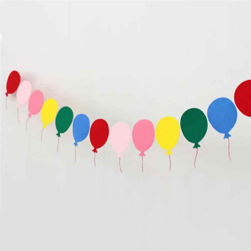 באנטינג באנרים דגלי נייר גרלנד פרחוני מפלגה דקור בלון צבעוני לבית הגינה קישוט מקלחת תינוק יום הולדת לילדים