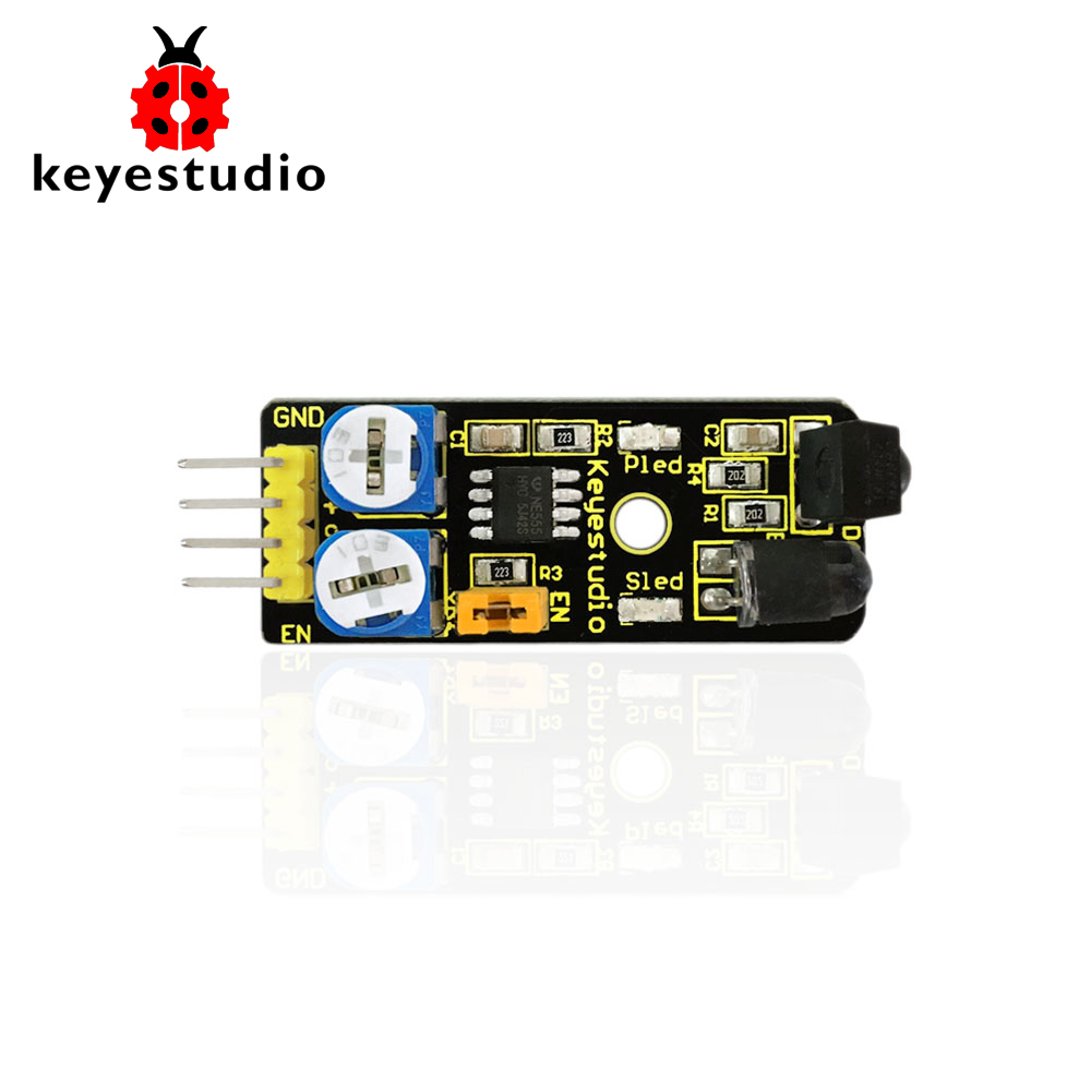 Free Shipping! Keyestudio IR Infrared Obstacle Avoidance Reflection  Sensor Module For Arduino Robot Car