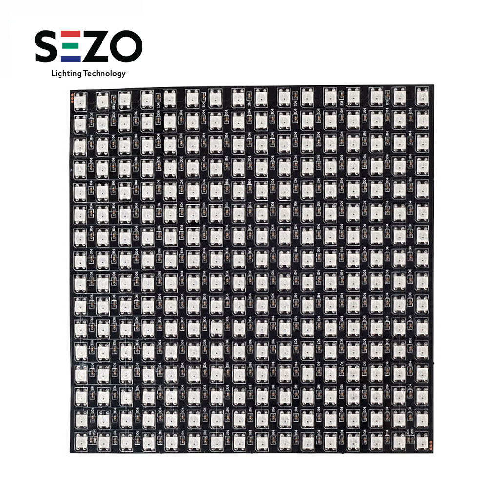 WS2812B RGB Panel Screen 8x8,16x16,8x32 256 Pixels Digital Flexible LED Programmed Individually Addressable Full Color DC5V