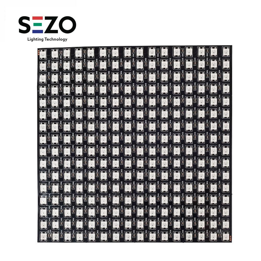 WS2812B RGB Panel Screen 8x8,16x16,8x32 256 Pixels Digital Flexible LED Programmed Individually Addressable Full Color DC5V