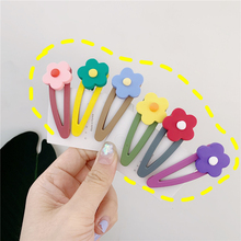Korea Resin Candy Color Hairpins Geometric Waterdrop Hairgrip Macaron Flower Hair Clips Women Accessories Headwear