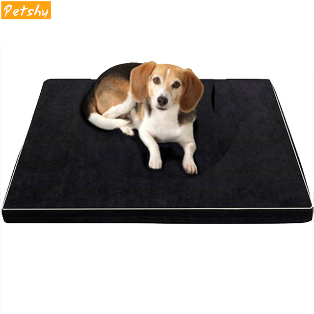 Petshy Memory Foam Pet Dog Cat Beds Mattress Dogs All Seasons Thicken Sleeping Orthopedic Slow Rebound Cushion Mat Pet Sofa Nest