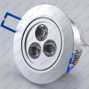10X3 W LED empotrado armario de techo lámpara de fijación