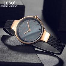 Женские кварцевые часы ibso 7 мм роскошный чехол цвета розового