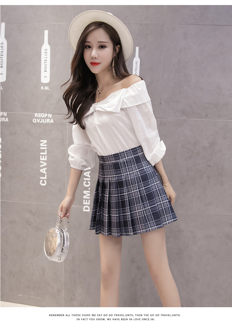 XS-3XL Women Skirt Preppy Style High Waist Chic Stitching Skirts Summer Student Pleated Skirt Women Cute Sweet Girls Dance Skirt 25