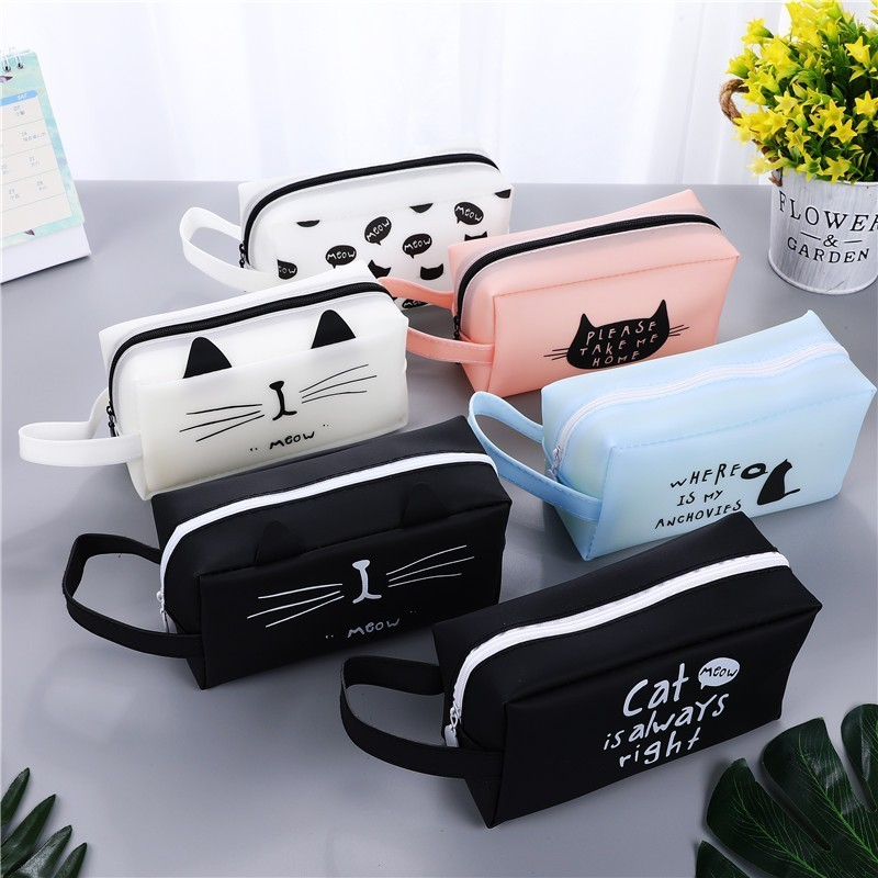 Creative Kawaii Cat School Pencil Cases Bags Cute Gel Pen Large Capacity Box Pouch Office School Stationary Supplies 04892