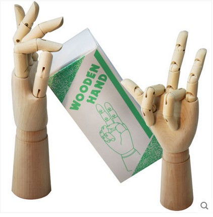 7 inch one small wooden hand model cartoon articulated movable hand Comic&Sketch Painting Teaching Tools 12 inch 30cm wooden model comic