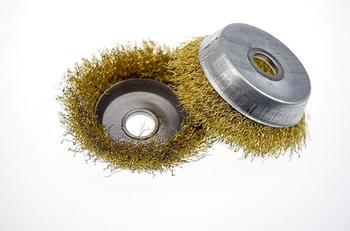 2 uds tipo taza rueda de alambre de acero cepillo de alambre de acero derusting 100*16mm tipo amoladora angular rueda de pulido de alambre de pulido